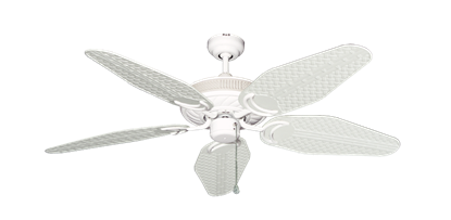 """Atlantis Pure White with 52"""" Outdoor Weave Pure White Blades"""