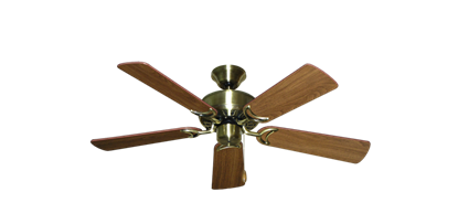 """Picture of 42"""" Dixie Belle Antique Brass with 42"""" Walnut Blades"""