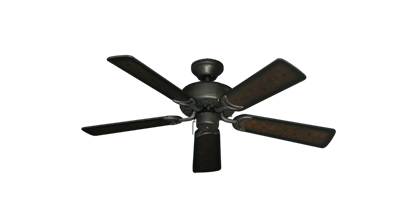 "Picture of 42"" Dixie Belle Oil Rubbed Bronze with 42"" Distressed Walnut Blades"
