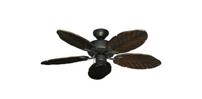 "Picture of 42"" Dixie Belle Oil Rubbed Bronze with 42"" Series 150 Arbor Dark Walnut Blades"