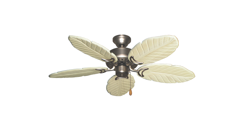 """Picture of 42"""" Dixie Belle Satin Steel with 42"""" Series 150 Arbor Whitewash Blades"""