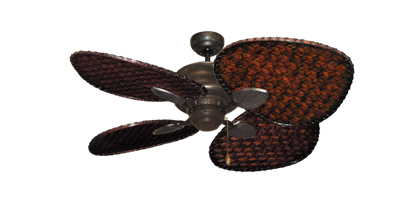 """Picture of Palm Breeze II Oil Rubbed Bronze with 48"""" Dark Woven Bamboo Blades"""