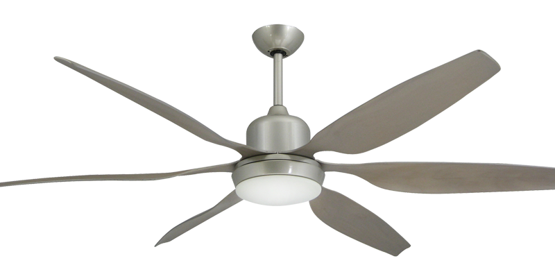 "Titan Brushed Nickel with 66"" Resin Brushed Nickel Blades"