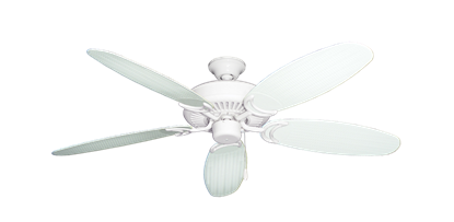 "Picture of Riviera Pure White with 52"" Outdoor Wicker Pure White Blades"