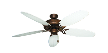"""Picture of Riviera Burnished Copper with 52"""" Outdoor Wicker Pure White Blades"""