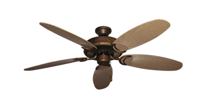 """Picture of Riviera Burnished Copper with 52"""" Outdoor Leaf Tan Blades"""