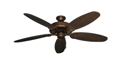 """Picture of Riviera Burnished Copper with 52"""" Outdoor Leaf Oil Rubbed Bronze Blades"""