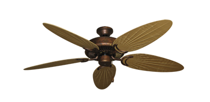 """Picture of Riviera Burnished Copper with 52"""" Outdoor Palm Walnut Blades"""