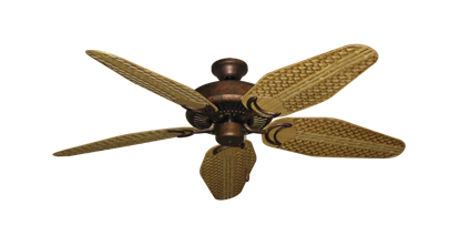 """Picture of Riviera Burnished Copper with 52"""" Outdoor Weave Walnut Blades"""