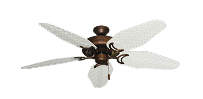 """Picture of Riviera Burnished Copper with 52"""" Outdoor Weave Pure White Blades"""