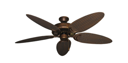 """Picture of Riviera Burnished Copper with 52"""" Outdoor Bamboo Oil Rubbed Bronze Blades"""