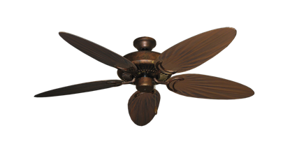 """Picture of Riviera Burnished Copper with 52"""" Outdoor Palm Oil Rubbed Bronze Blades"""