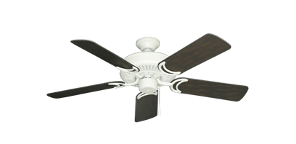 "Picture of Riviera Matte Pure White with 44"" Outdoor Oil Rubbed Bronze Blades"