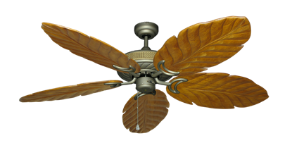 "Picture of Atlantis Antique Bronze with 58"" Series 100 Arbor Oak Blades"