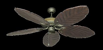 "Picture of Atlantis Antique Bronze with 58"" Series 100 Arbor Dark Walnut Blades"