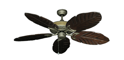 "Picture of Atlantis Antique Bronze with 52"" Series 125 Arbor Dark Walnut Blades"