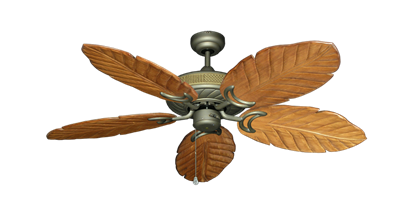 "Picture of Atlantis Antique Bronze with 52"" Series 125 Arbor Oak Blades"