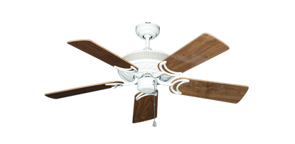 """Picture of Atlantis Pure White with 44"""" Walnut Gloss Blades"""