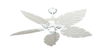 """Picture of Atlantis Pure White with 52"""" Venetian Pure White Blades"""