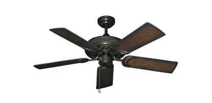 "Picture of Atlantis Oil Rubbed Bronze with 44"" Distressed Hickory Blades"