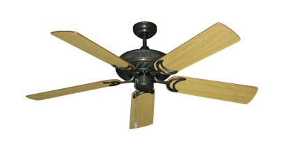 """Picture of Atlantis Oil Rubbed Bronze with 52"""" Honey Oak Blades"""
