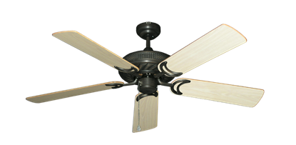 "Picture of Atlantis Oil Rubbed Bronze with 52"" Bleached Oak Gloss Blades"