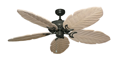 """Picture of Atlantis Oil Rubbed Bronze with 58"""" Series 100 Arbor Whitewash Blades"""