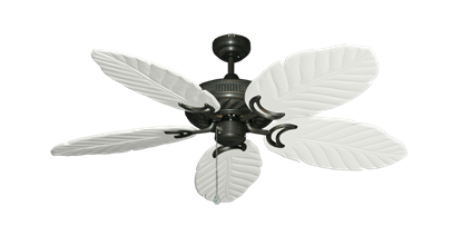 "Picture of Atlantis Oil Rubbed Bronze with 52"" Series 125 Arbor Pure White Blades"