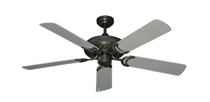 "Picture of Atlantis Oil Rubbed Bronze with 52"" Outdoor Brushed Nickel Blades"