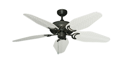 "Picture of Atlantis Oil Rubbed Bronze with 52"" Outdoor Weave Pure White Blades"