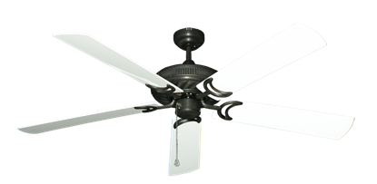 """Atlantis Oil Rubbed Bronze with 60"""" Outdoor Pure White Blades"""