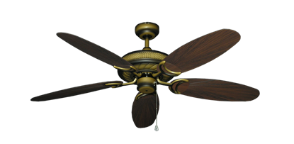 """Picture of Atlantis Tiger's Eye with 52"""" Outdoor Leaf Oil Rubbed Bronze Blades"""