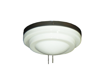 Picture of 165 Low Profile Light Fixture with Stepped White Glass