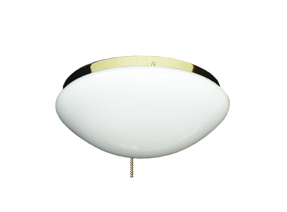 Picture of 166 Low Profile Light Fixture with Oval White Glass