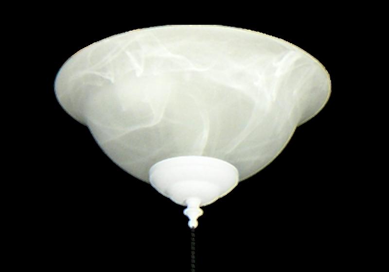 130 Glass Bowl Light in White Scavo