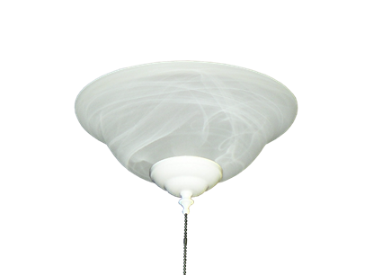 176 Basic Glass Bowl Light in Alabaster