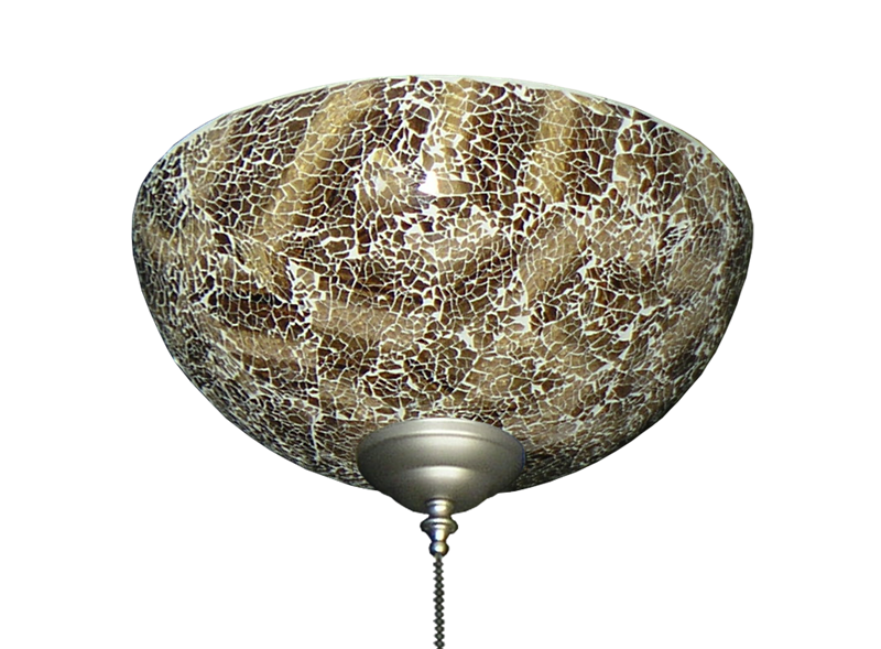 Picture of 2264 Brown Crackle Finish Hand-Made Specialty Glass Bowl Light