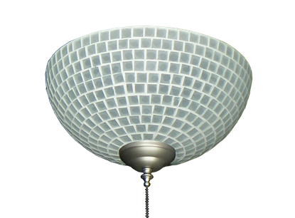 Picture of 2265 Frost Tile Hand-Made Specialty Glass Bowl Light