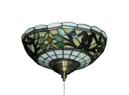 186 Tiffany Glass Specialty Bowl Light