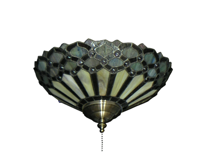 194 Peacock Tiffany Glass Specialty Bowl Light