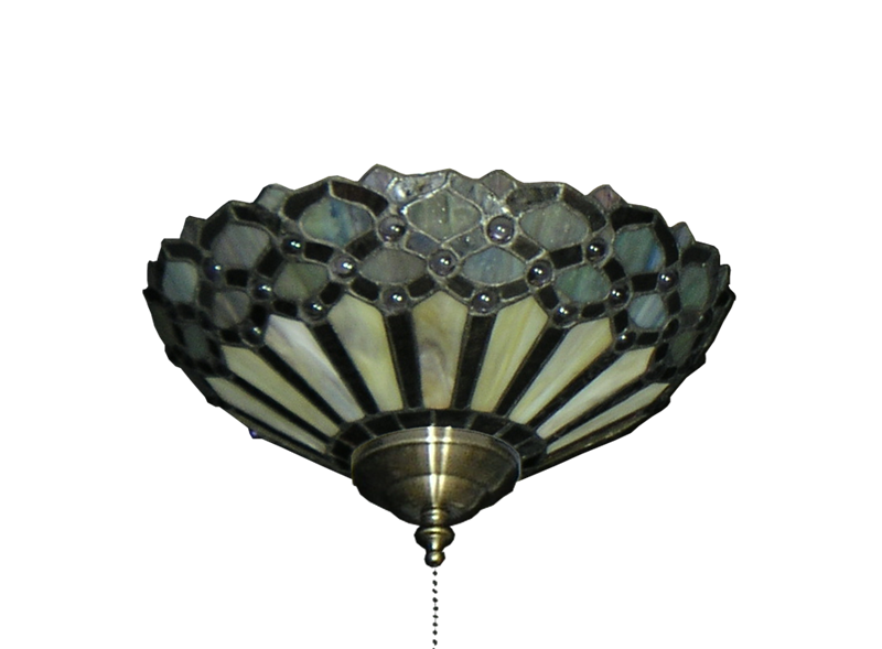 Picture of 194 Peacock Tiffany Glass Specialty Bowl Light