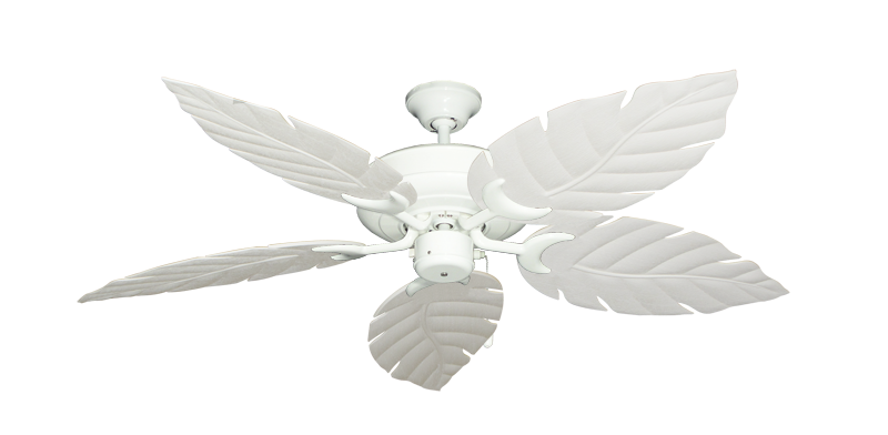 "Picture of Raindance Pure White with 52"" Venetian Pure White Blades"