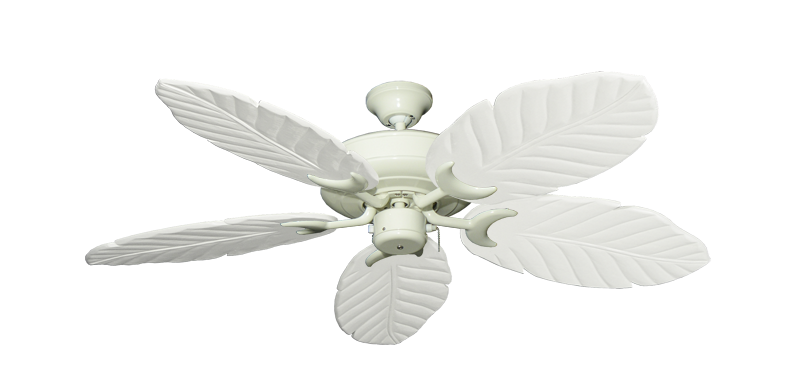 "Picture of Raindance Antique White with 52"" Series 125 Arbor Pure White Blades"