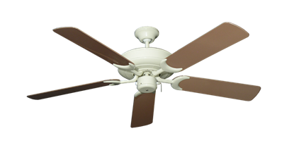 """Picture of Raindance Antique White with 52"""" Outdoor Brown Blades"""
