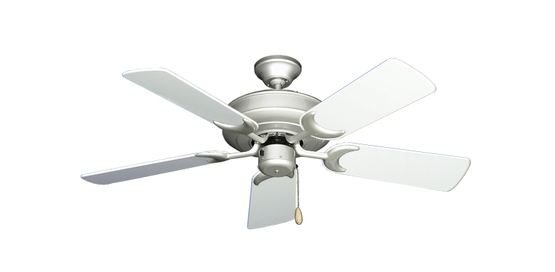 """Picture of Raindance Brushed Nickel with 44"""" Pure White Gloss Blades"""