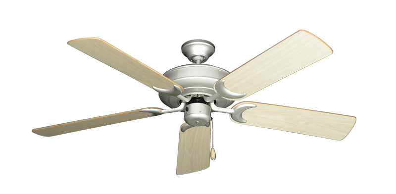 """Picture of Raindance Brushed Nickel with 52"""" Bleached Oak Gloss Blades"""
