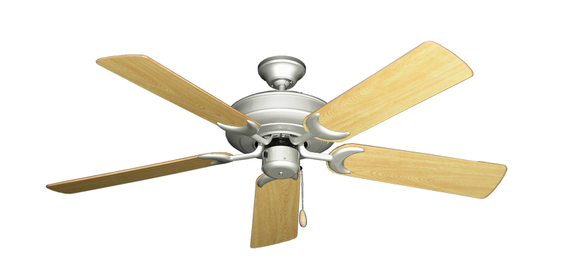 """Picture of Raindance Brushed Nickel with 52"""" Honey Oak Gloss Blades"""