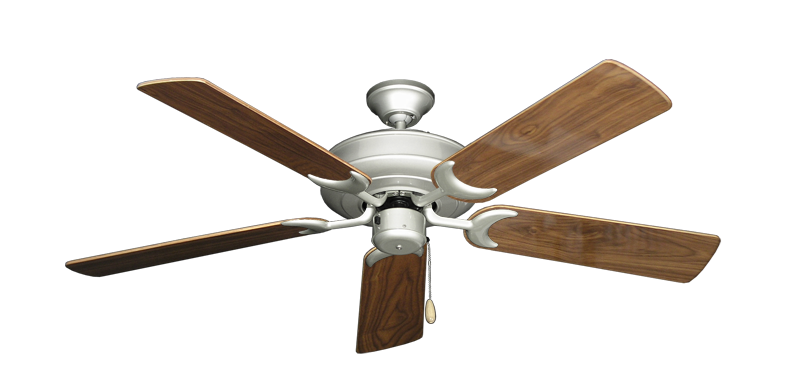 "Picture of Raindance Brushed Nickel with 52"" Walnut Gloss Blades"
