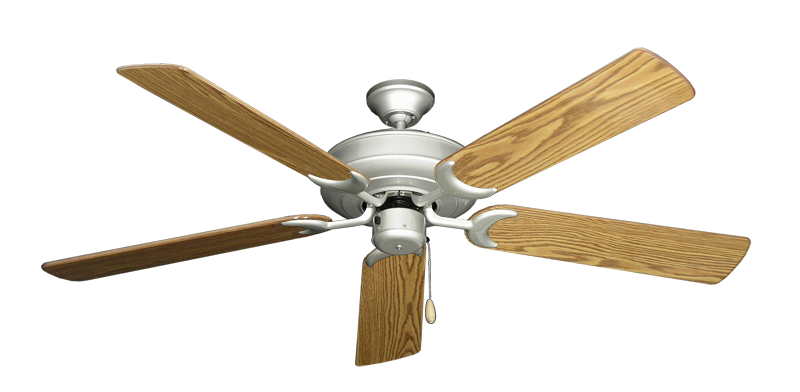 """Picture of Raindance Brushed Nickel with 56"""" Oak Gloss Blades"""