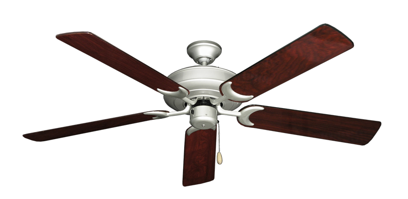 """Picture of Raindance Brushed Nickel with 56"""" Cherrywood Gloss Blades"""